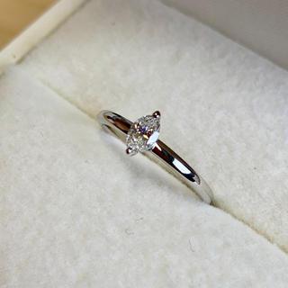 値下げしました! サイズ直し無料 pt900 ダイヤモンドリング(リング(指輪))