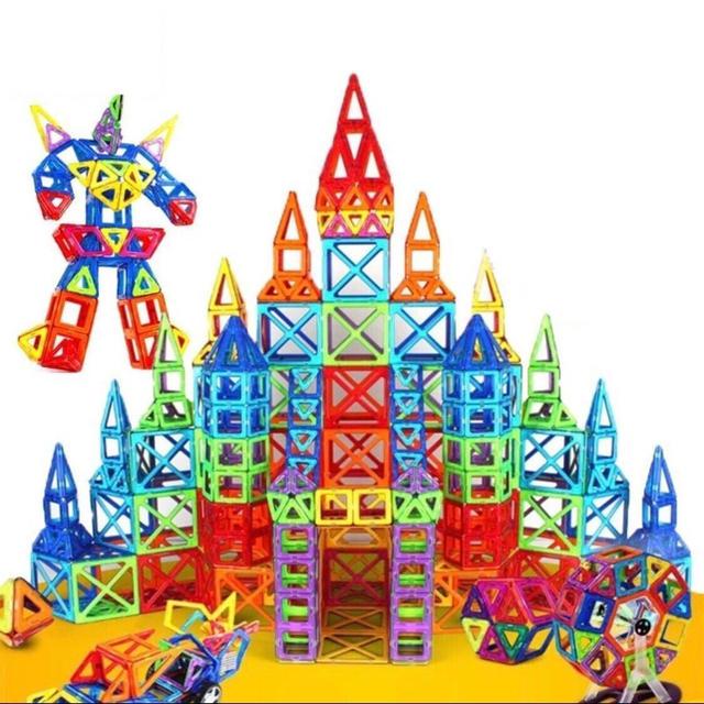 【超人気★数量限定】新品未使用未開封品★大容量110ピース★磁石ブロック キッズ/ベビー/マタニティのおもちゃ(知育玩具)の商品写真