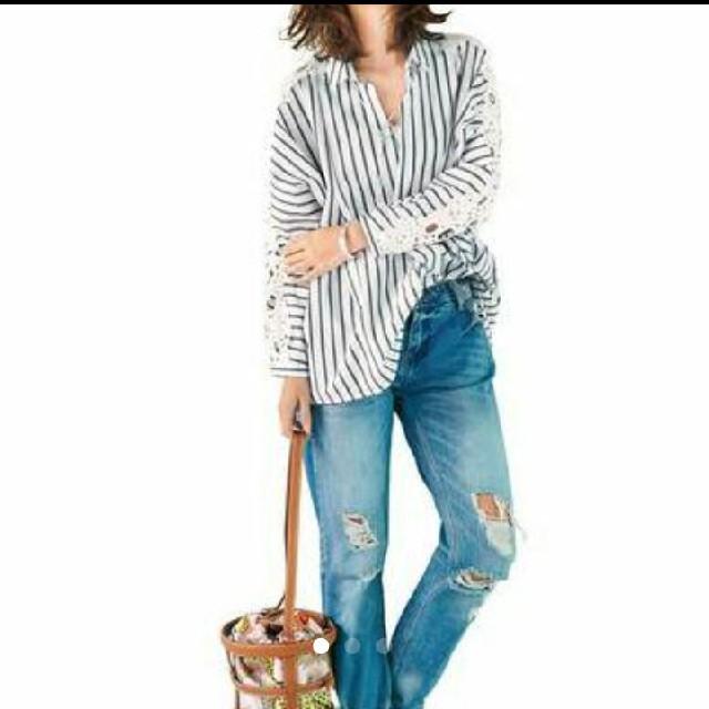 Chesty(チェスティ)のchestyお袖レースシャツ⭐ レディースのトップス(シャツ/ブラウス(長袖/七分))の商品写真