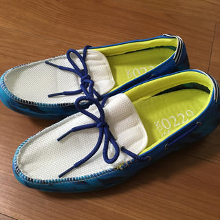 ローファー型サンダル 青(ローファー/革靴)