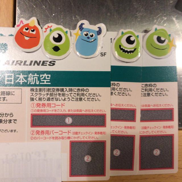 JAL(日本航空)(ジャル(ニホンコウクウ))のJAL 株主優待券 3枚 チケットの優待券/割引券(その他)の商品写真