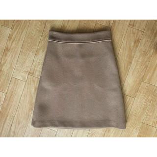 ドゥロワー(Drawer)のDRAWER ウールメルトン 台形 スカート(ひざ丈スカート)