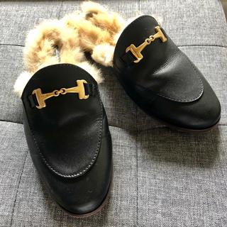 ドゥーズィエムクラス(DEUXIEME CLASSE)のカミナンド★ビット付きファー サンダル(ローファー/革靴)