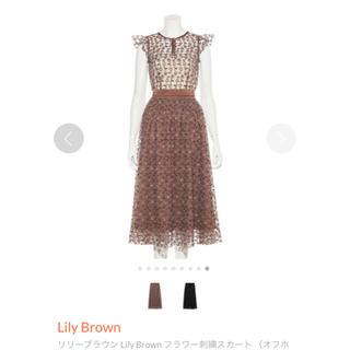 リリーブラウン(Lily Brown)のLily Brown*2019秋冬新作   モデル  フラワー刺繍セットアップ(セット/コーデ)
