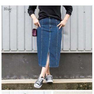 クレット(clette)の大きいサイズ ロング デニム スカート 4L 新品未使用(ロングスカート)