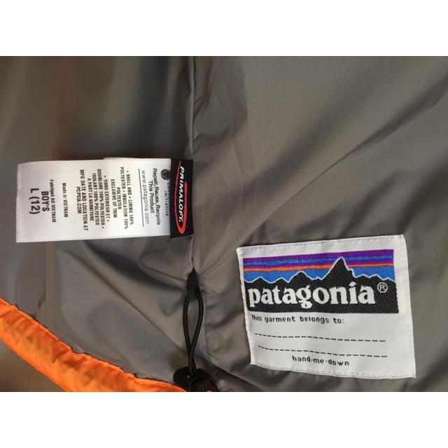 patagonia(パタゴニア)のオレンジ色 ナノパフ ジャケット  レディースS  キッズL プリマロフト レディースのジャケット/アウター(ダウンジャケット)の商品写真