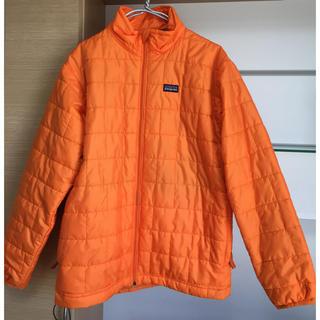パタゴニア(patagonia)のオレンジ色 ナノパフ ジャケット  レディースS  キッズL プリマロフト(ダウンジャケット)