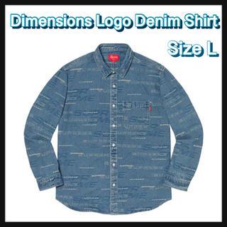 シュプリーム(Supreme)の【L】Dimensions Logo Denim Shirt(シャツ)