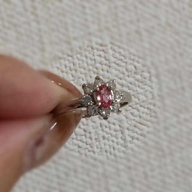 パパラチャサファイア*ダイヤモンドリング レディースのアクセサリー(リング(指輪))の商品写真