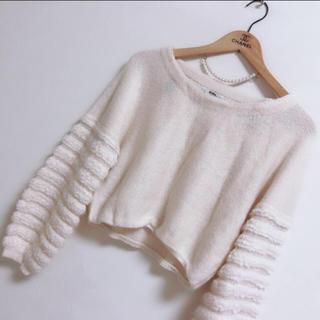 グレイル(GRL)の 🌿 袖ボリュームニット(ニット/セーター)