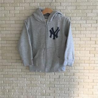 MLB NYヤンキース 裏起毛パーカー(4T)(ジャケット/上着)