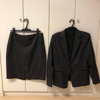 UNTITLED - ◆アンタイトル・untitled◆グレー44号大きいサイズ  スカートスーツ