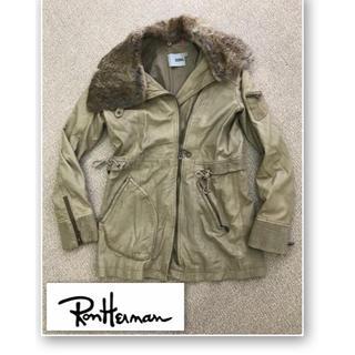 ロンハーマン(Ron Herman)のロンハーマン ラビットファー付きラムレザーコート(レザージャケット)