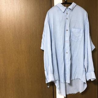Yohji Yamamoto - sulvam オーバーサイズテンセルストライプシャツ