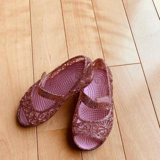 crocs - クロックスのラメサンダル15.5センチ