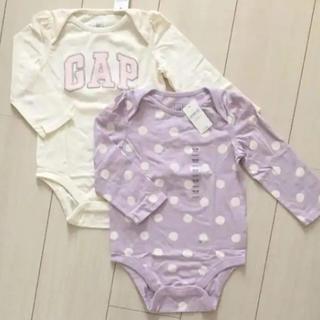 ベビーギャップ(babyGAP)の新品♡baby gap 90 ロンパース 2枚セット(ロンパース)
