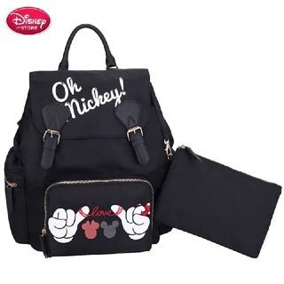 Disney - Disney マザーズバッグ/マザーズリュック/ブラック×ミッキー×ミニー