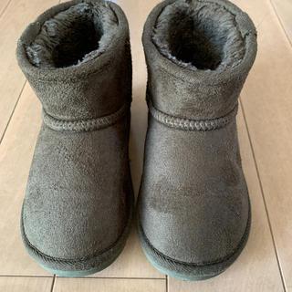 アンパサンド(ampersand)のムートンブーツ キッズ カーキ 16cm アンパサンド(ブーツ)