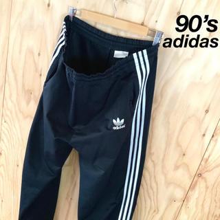 adidas - 90's 銀タグ adidas ビッグサイズ トラックパンツ ブラックホワイト