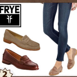 フライ(FRYE)の新品 FRYE ローファー レザー ウィスキーカラー US7(ローファー/革靴)