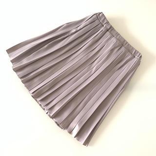 HALUNO様 b-ROOM プリーツスカート シルバー グレー(スカート)