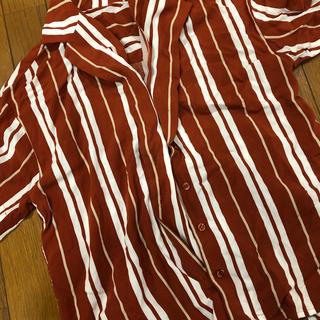 ローリーズファーム(LOWRYS FARM)のローリーズファームストライプシャツ(シャツ/ブラウス(半袖/袖なし))