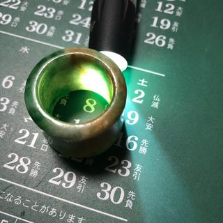 天然翡翠(ヒスイ)指輪.骨董 (リング(指輪))