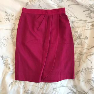 prideglide - ウール93% 日本製 プライドグライド ビビッドピンクスカート  オンワード製