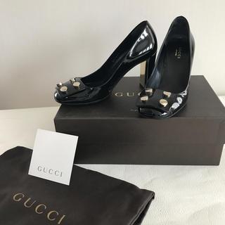 グッチ(Gucci)の価格応相談!GUCCI ブラックパンプス 35(ハイヒール/パンプス)