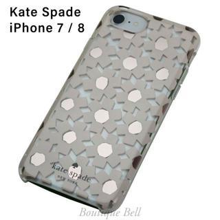 ケイトスペードニューヨーク(kate spade new york)のケイトスペード iPhone7/8 ピンクフラワー ピンク×クリア(iPhoneケース)