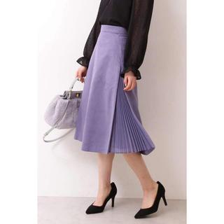 PROPORTION BODY DRESSING - 新品 プロポーションボディドレッシング フェイクスエードサイドプリーツスカート