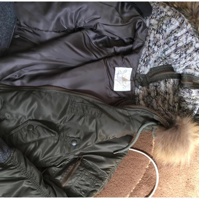 GRACE CONTINENTAL(グレースコンチネンタル)のグレースクラス ファーブルゾンカーキ レディースのジャケット/アウター(ブルゾン)の商品写真