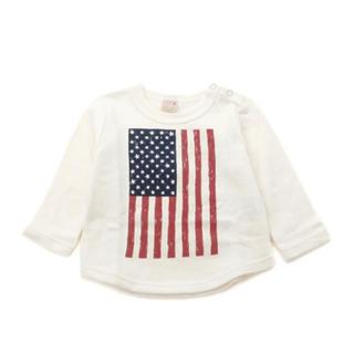 プティマイン(petit main)のpetit main(プティマイン)アメリカ国旗プリント長袖Tシャツ 男女100(ニット)