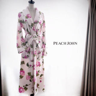 PEACH JOHN - PEACH JHON ルームガウン ローズ柄