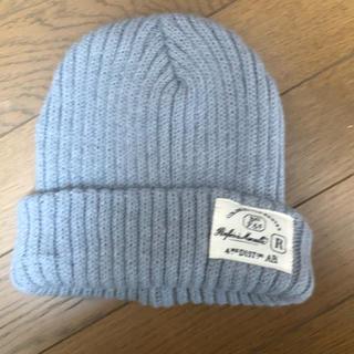 スリーコインズ(3COINS)の【598】グレーのニット帽(ニット帽/ビーニー)