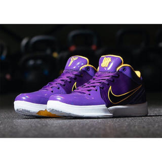ナイキ(NIKE)のUNDEFEATED NIKE KOBE 4 PURPLE(スニーカー)