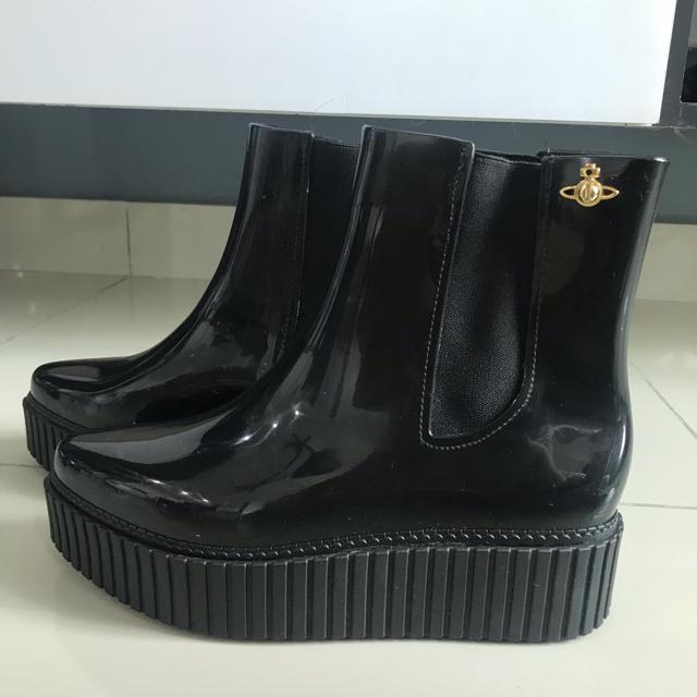 Vivienne Westwood(ヴィヴィアンウエストウッド)の訳ありヴィヴィアンウェストウッド×メリッサ レインブーツ レディースの靴/シューズ(レインブーツ/長靴)の商品写真
