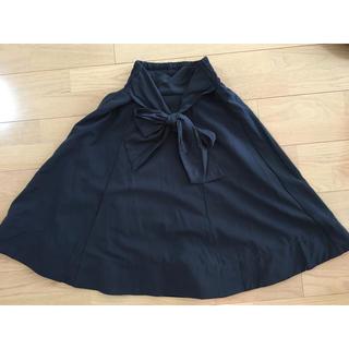 しまむら - 紺色のミモレ丈スカート