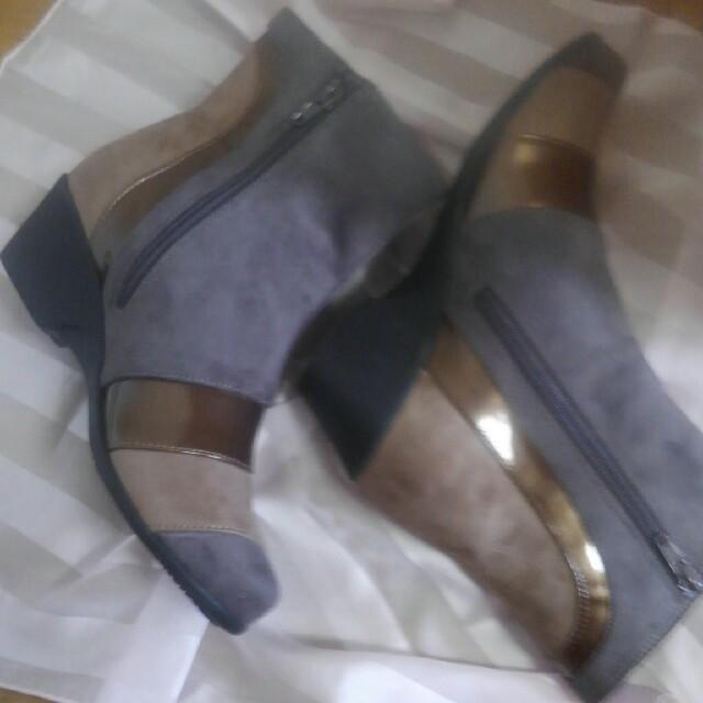 切り替えアクセントブーツ レディースの靴/シューズ(ブーツ)の商品写真