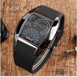 腕時計 デジタル腕時計 時計 LED スポーツ時計 ゴムベルト ウォッチ(腕時計(デジタル))