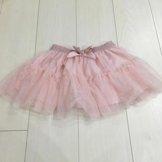 エイチアンドエム(H&M)のH&M♡チュールスカート♡キラキラ♡ラメ♡スカート♡ピンク♡エイチアンドエム(スカート)