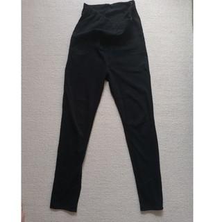 ユニクロ(UNIQLO)のマタニティ用レギンスパンツ黒(マタニティウェア)