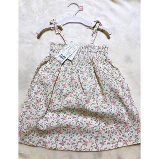 フタフタ(futafuta)の新品 futafuta 女の子 ピンク 小花柄 ワンピース 90cm 綿100%(ワンピース)
