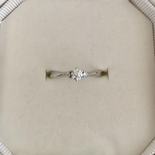 ヨンドシー(4℃)の4℃ ダイヤモンド リング Pt950 0.166ct F VS-2 EX(リング(指輪))