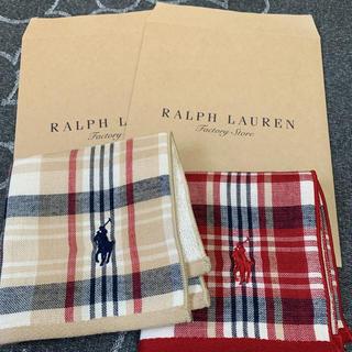 Ralph Lauren - 新品 ラルフローレン ガーゼタオルハンカチ 2枚セット