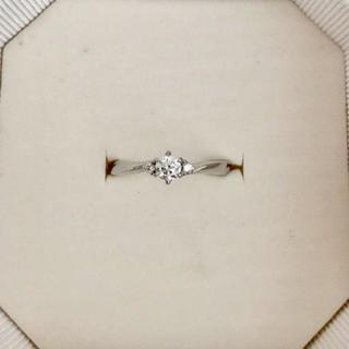 ヨンドシー(4℃)の4℃ ダイヤモンド リング Pt950 0.169ct E VS-2 EX(リング(指輪))