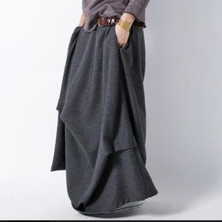 antiqua - 変形 ドレープロングスカート
