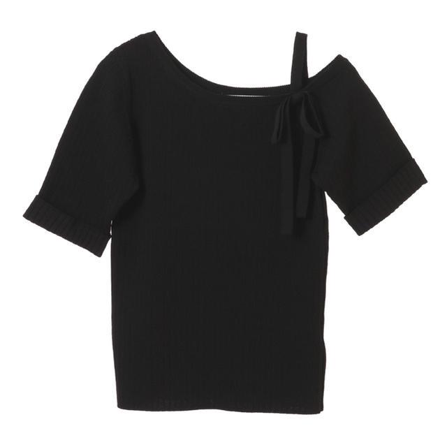31 Sons de mode(トランテアンソンドゥモード)のトランテアン トップス リボンニット レディースのトップス(Tシャツ(半袖/袖なし))の商品写真