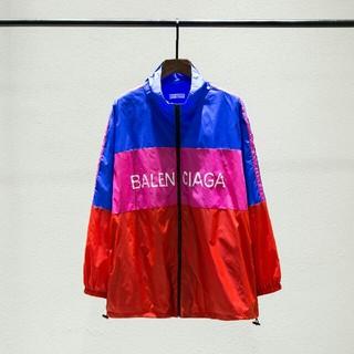バレンシアガ(Balenciaga)のBALENCIAGA バレンシアガ トラックジャケット ブルー/レッド/ピンク(ナイロンジャケット)