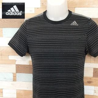 アディダス(adidas)の【adidas】 美品 アディダス ブラックボーダー半袖Tシャツ サイズS(Tシャツ/カットソー(半袖/袖なし))